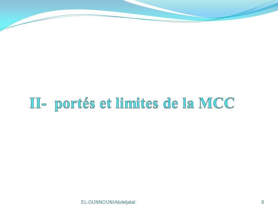 II- portés et limites de la MCC