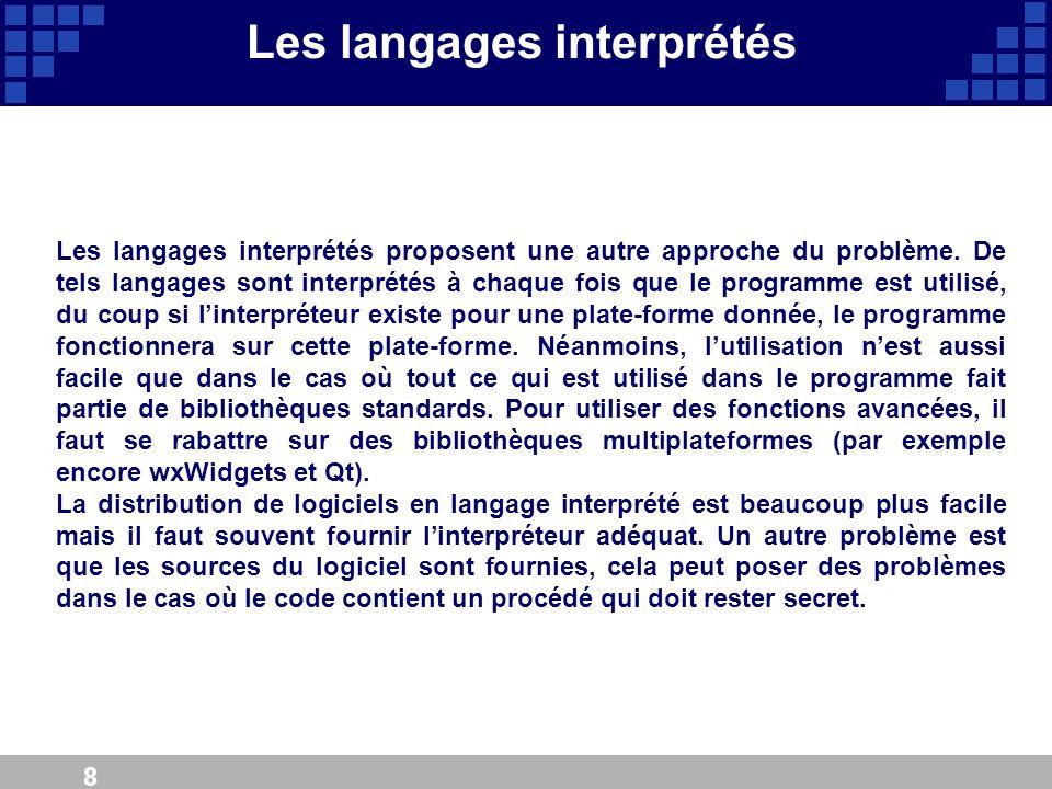 Les langages interprétés