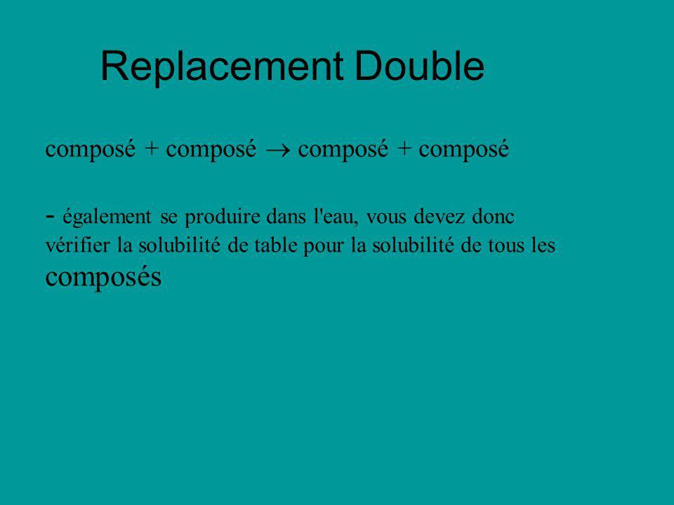 Replacement Double composé + composé  composé + composé.