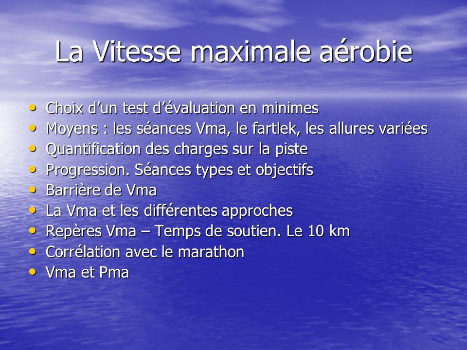 La Vitesse maximale aérobie