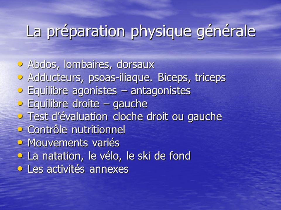 La préparation physique générale