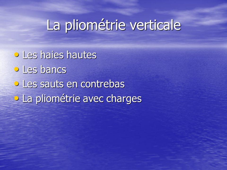 La pliométrie verticale