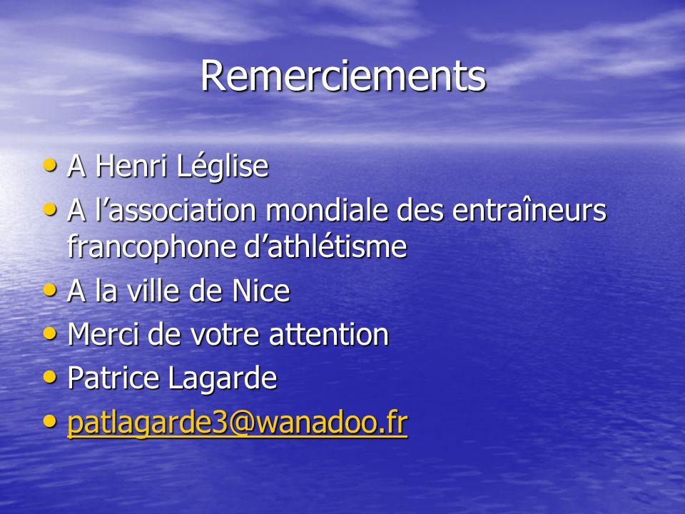 Remerciements A Henri Léglise