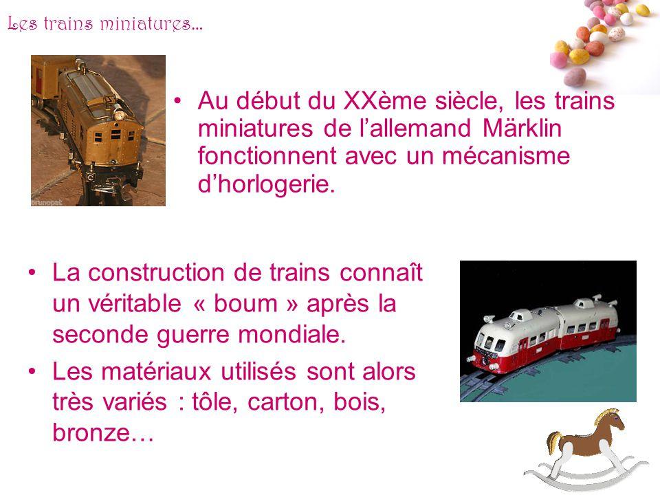 Les trains miniatures…