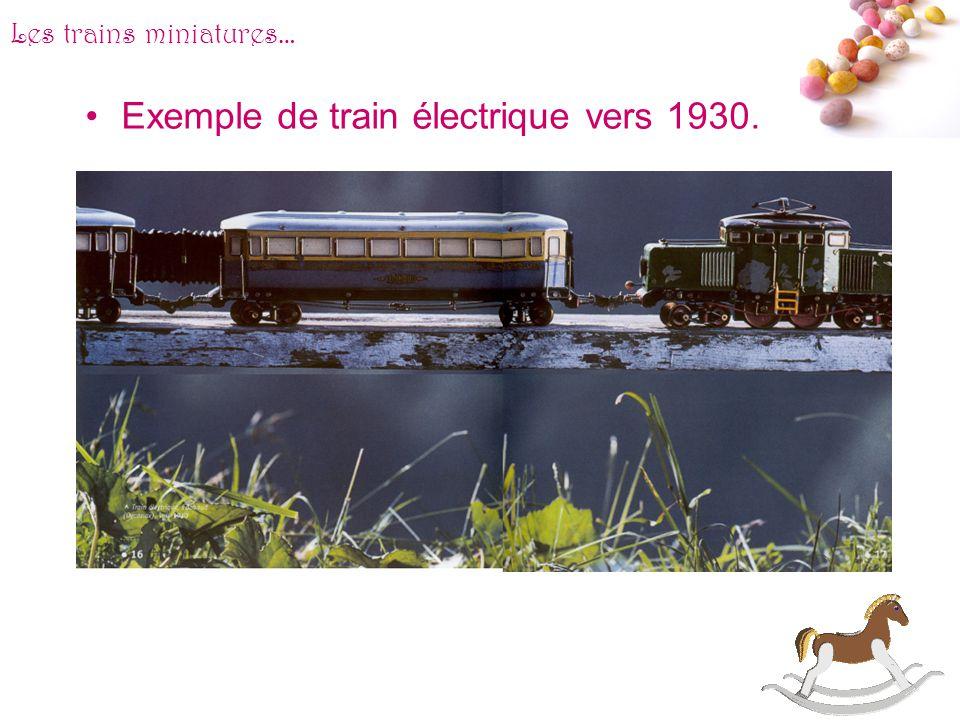 Exemple de train électrique vers 1930.