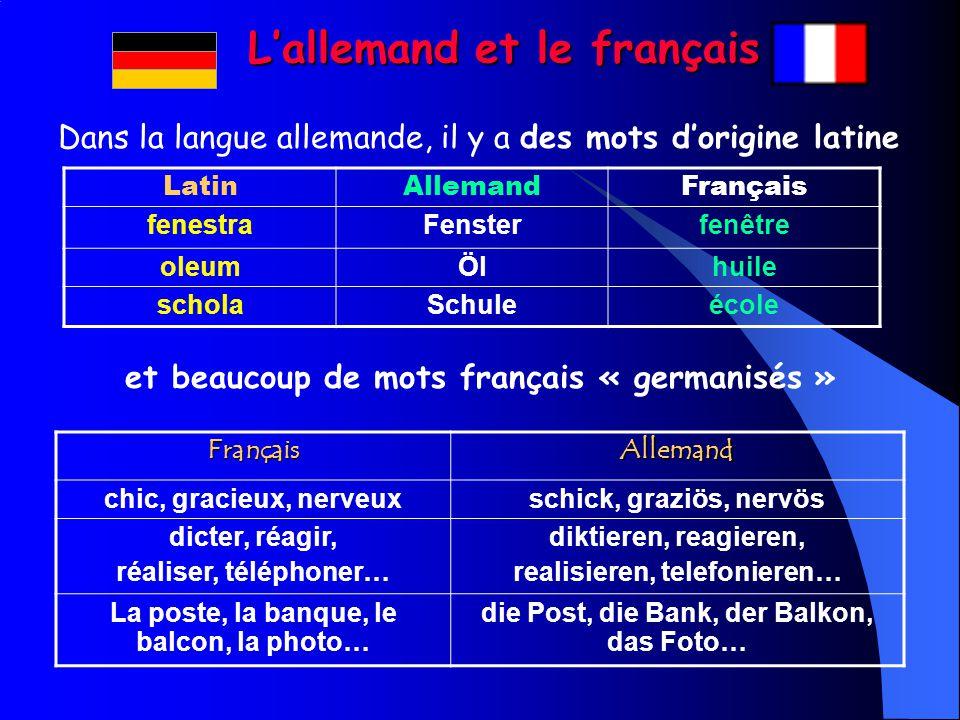L'allemand et le français