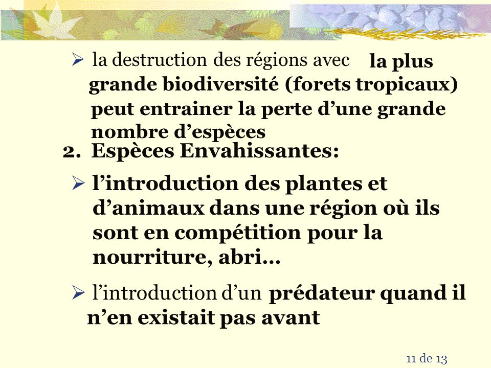 la plus grande biodiversité (forets tropicaux)
