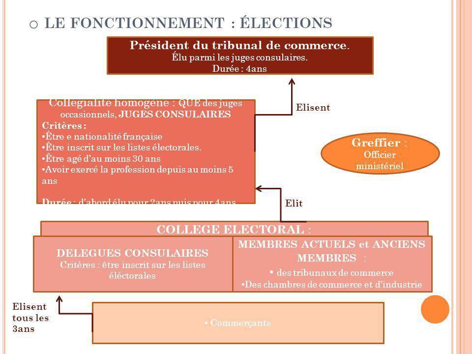 Le fonctionnement : élections