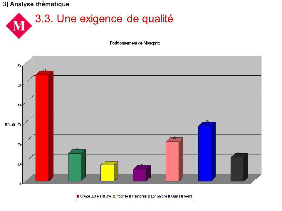 3.3. Une exigence de qualité