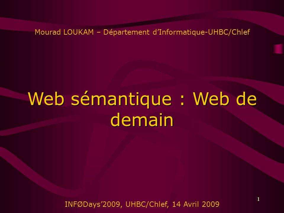 Web sémantique : Web de demain