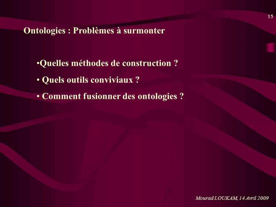 Ontologies : Problèmes à surmonter