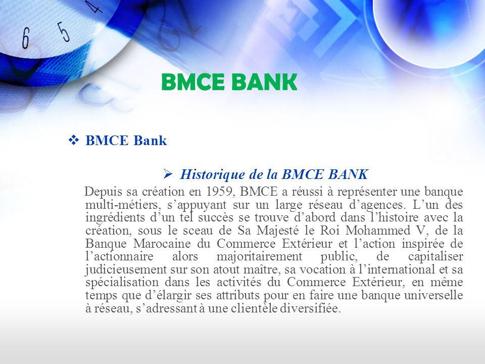 Historique de la BMCE BANK