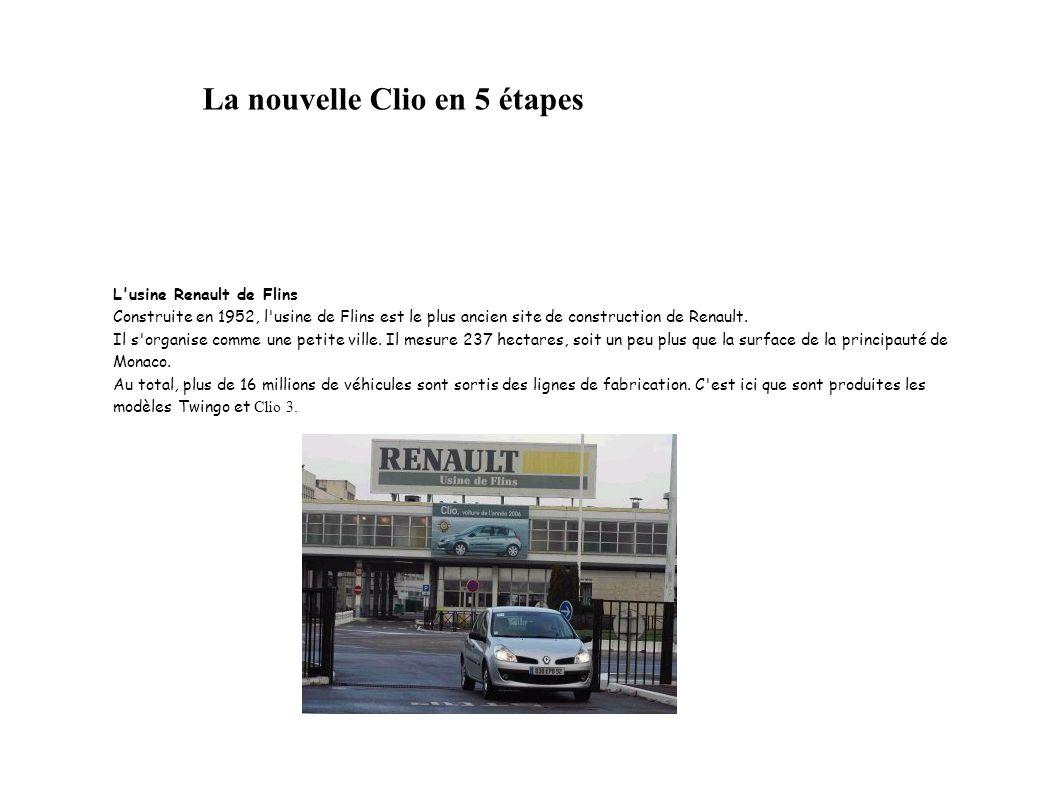 La nouvelle Clio en 5 étapes
