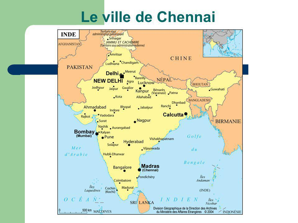 Le ville de Chennai