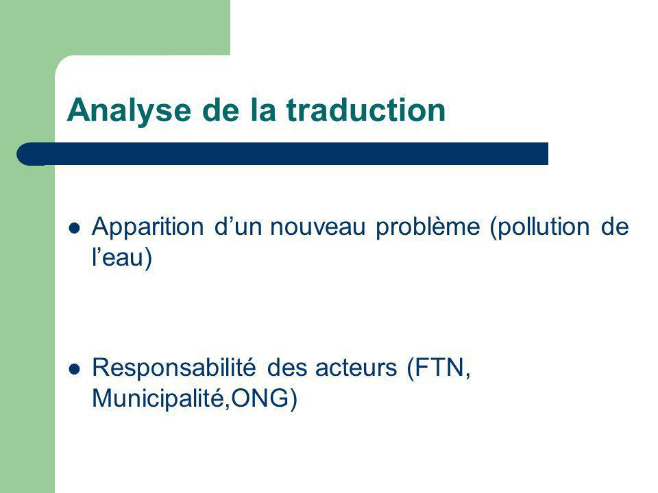Analyse de la traduction
