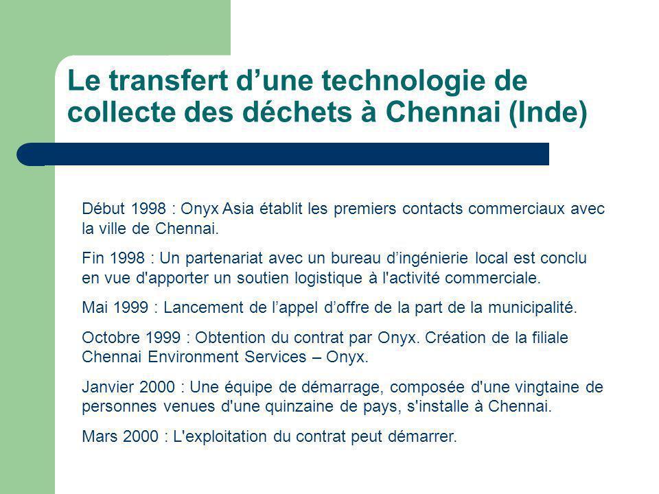 Le transfert d'une technologie de collecte des déchets à Chennai (Inde)