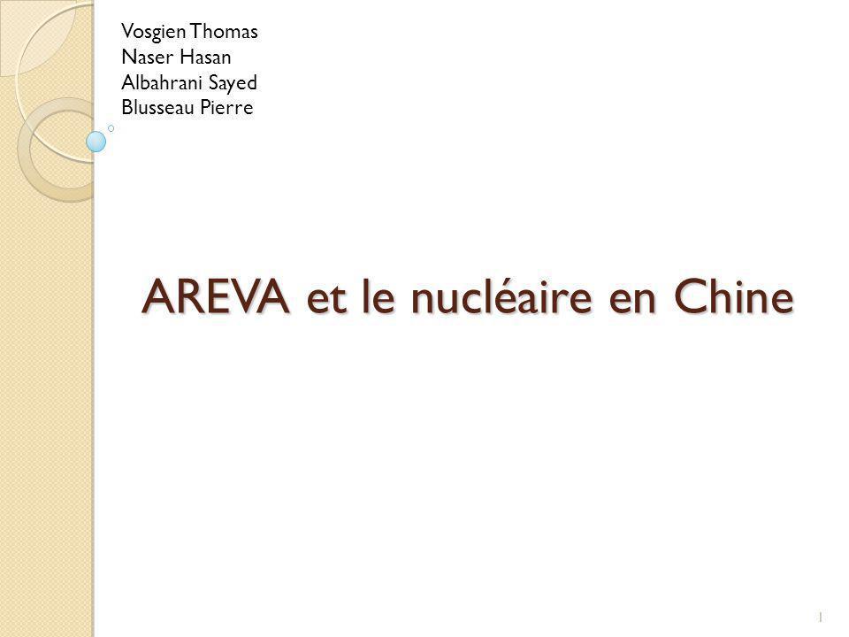 AREVA et le nucléaire en Chine