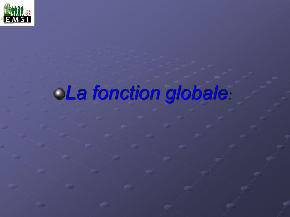 La fonction globale: