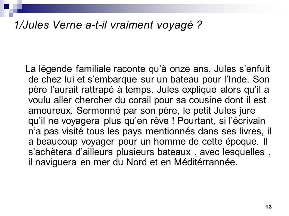 1/Jules Verne a-t-il vraiment voyagé