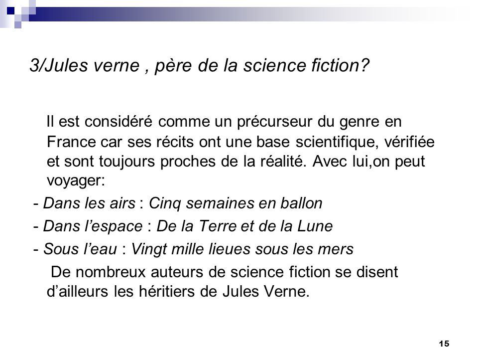 3/Jules verne , père de la science fiction