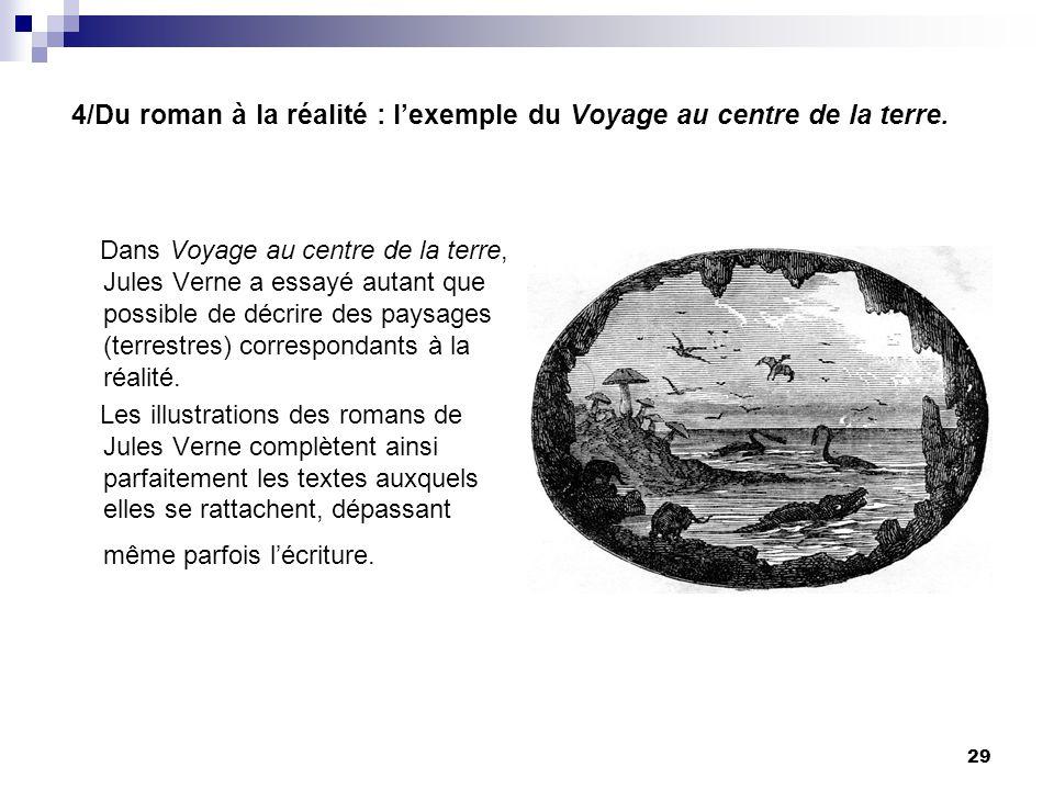 4/Du roman à la réalité : l'exemple du Voyage au centre de la terre.