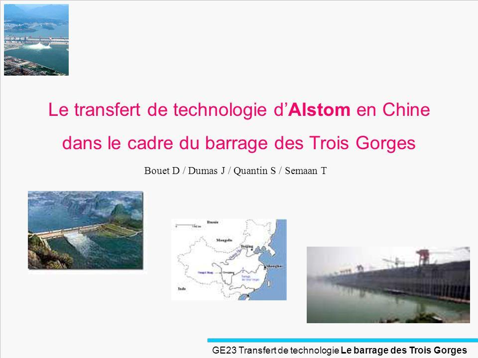 Le transfert de technologie d'Alstom en Chine