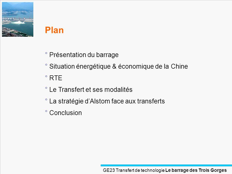 Plan Présentation du barrage