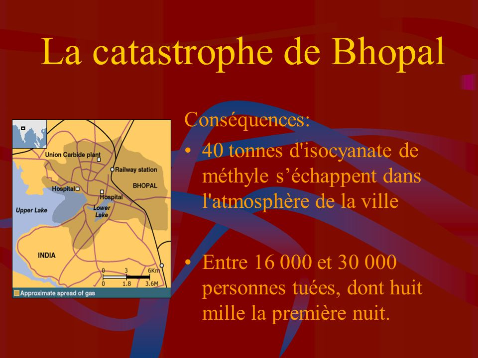 La catastrophe de Bhopal