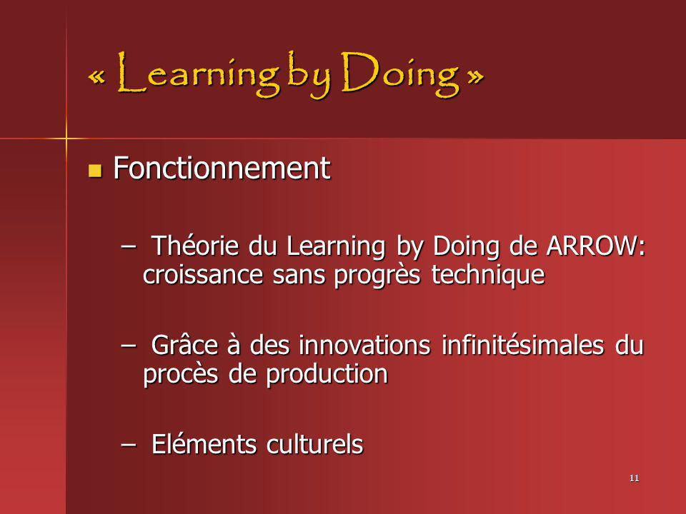 « Learning by Doing » Fonctionnement