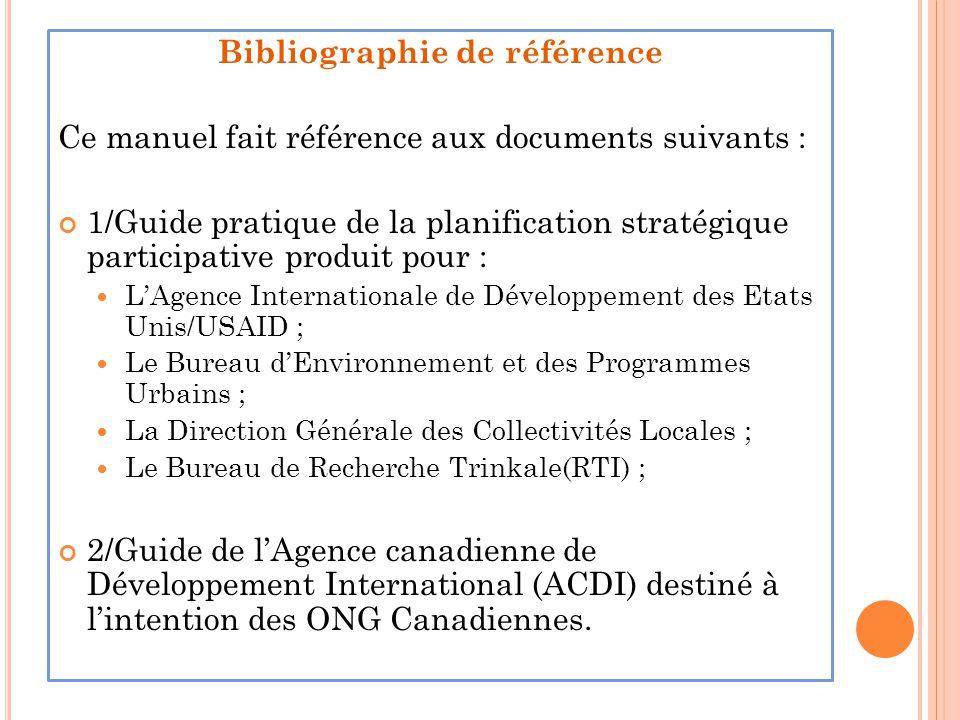 Bibliographie de référence