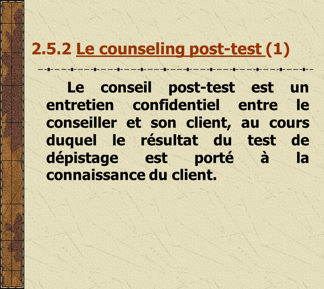 2.5.2 Le counseling post-test (1)