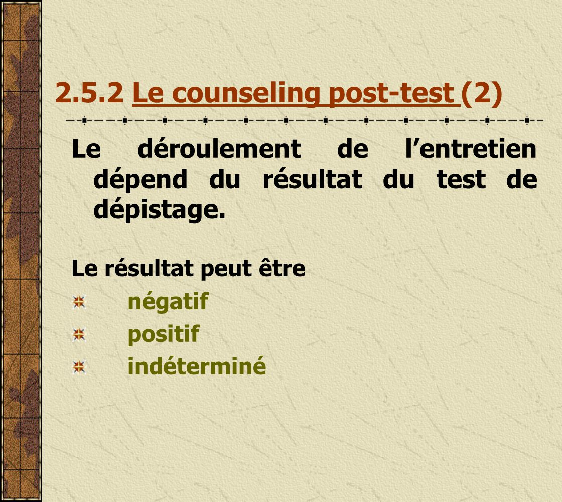 2.5.2 Le counseling post-test (2)