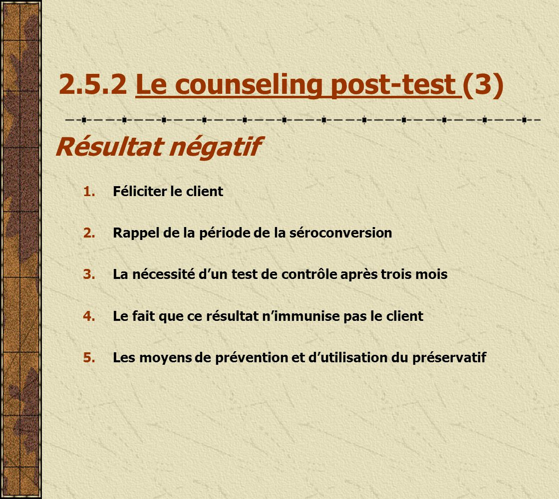 2.5.2 Le counseling post-test (3)