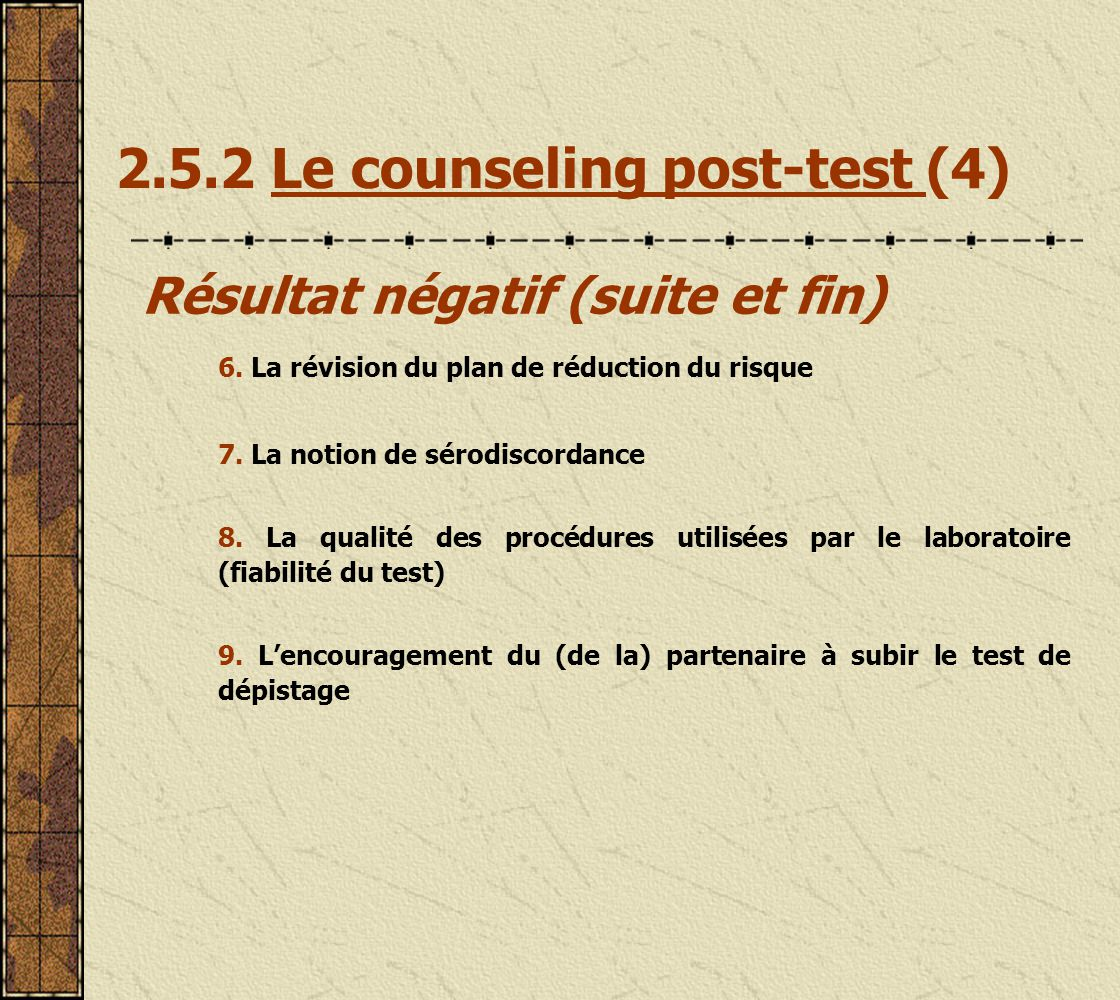 2.5.2 Le counseling post-test (4)