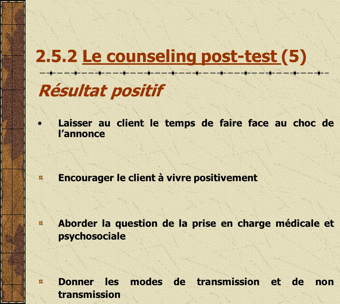 2.5.2 Le counseling post-test (5)