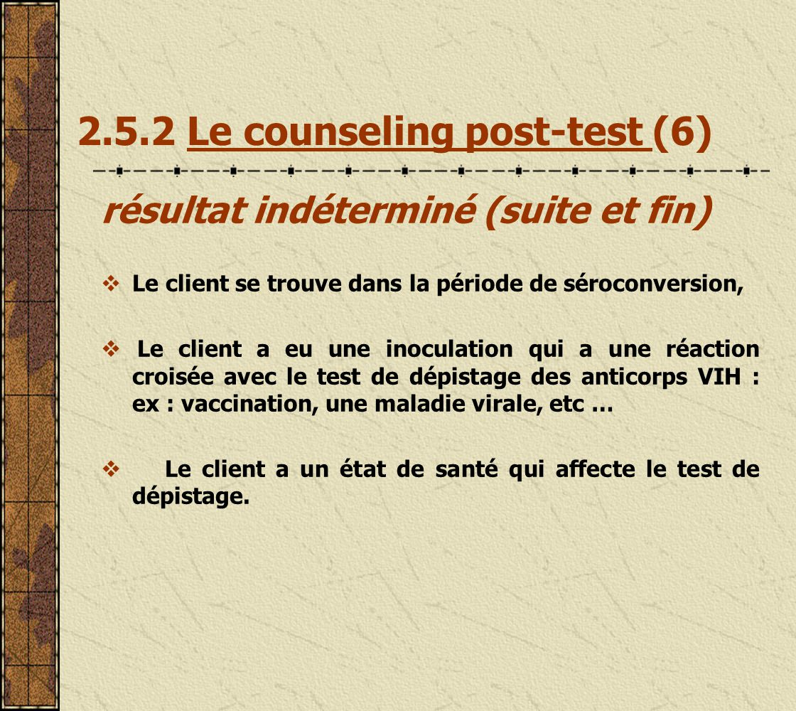 2.5.2 Le counseling post-test (6)