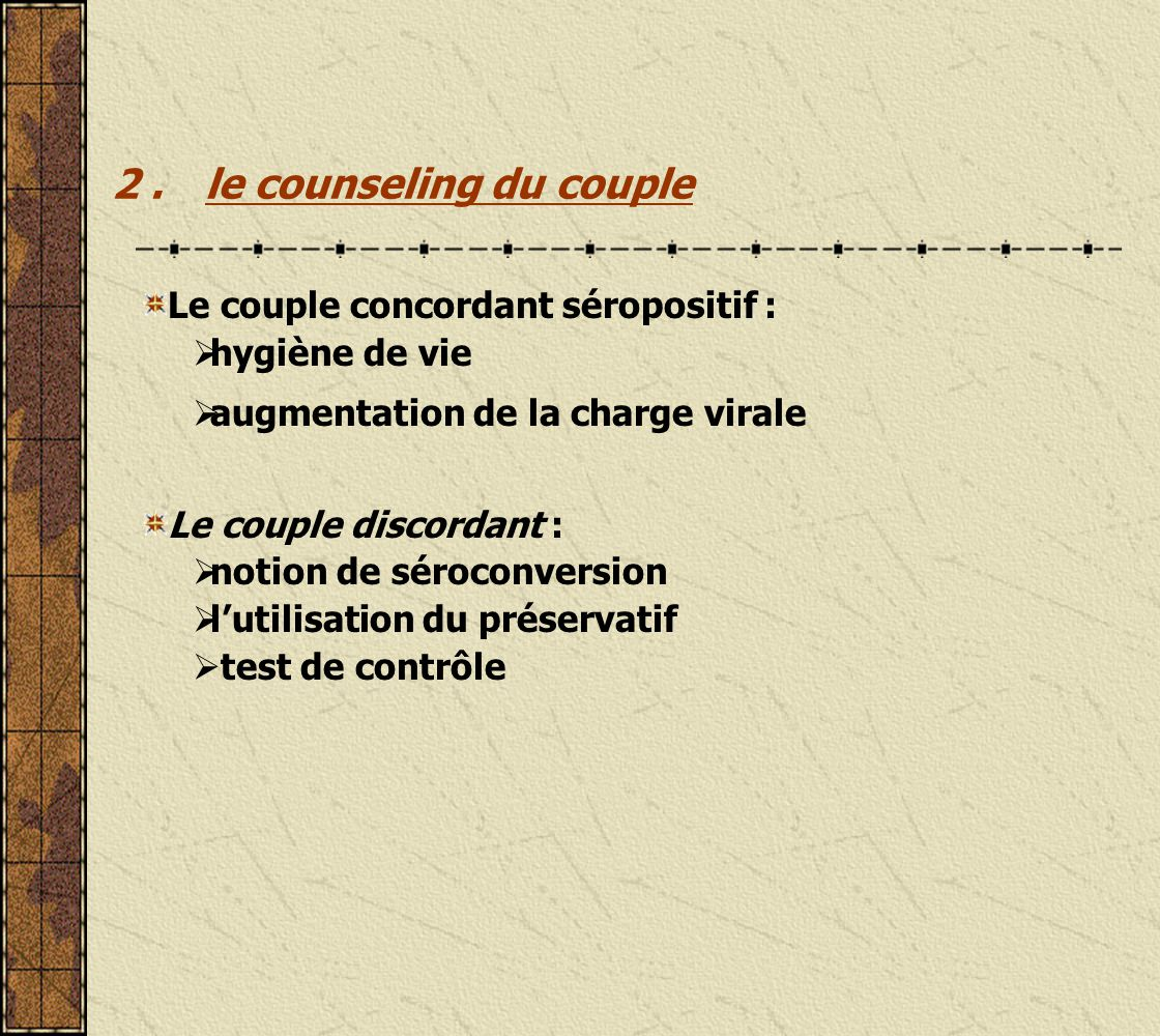 2 . le counseling du couple