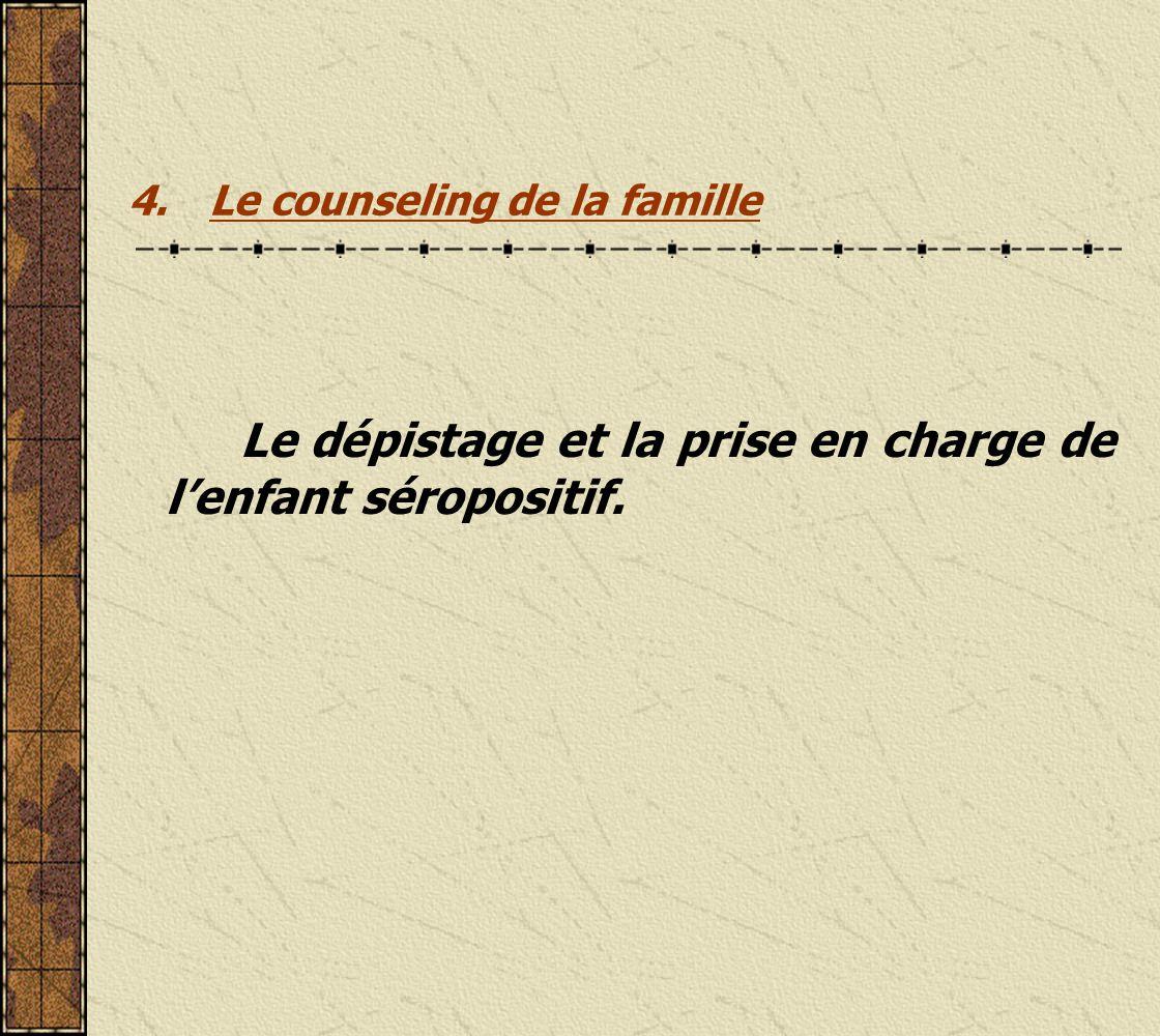 4. Le counseling de la famille