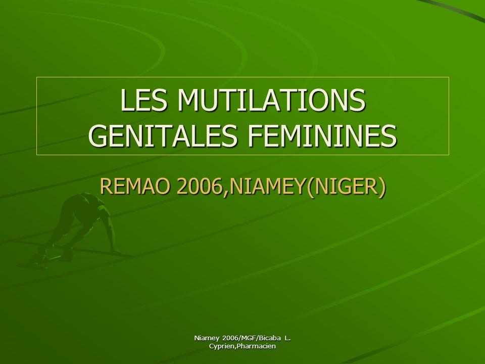 LES MUTILATIONS GENITALES FEMININES
