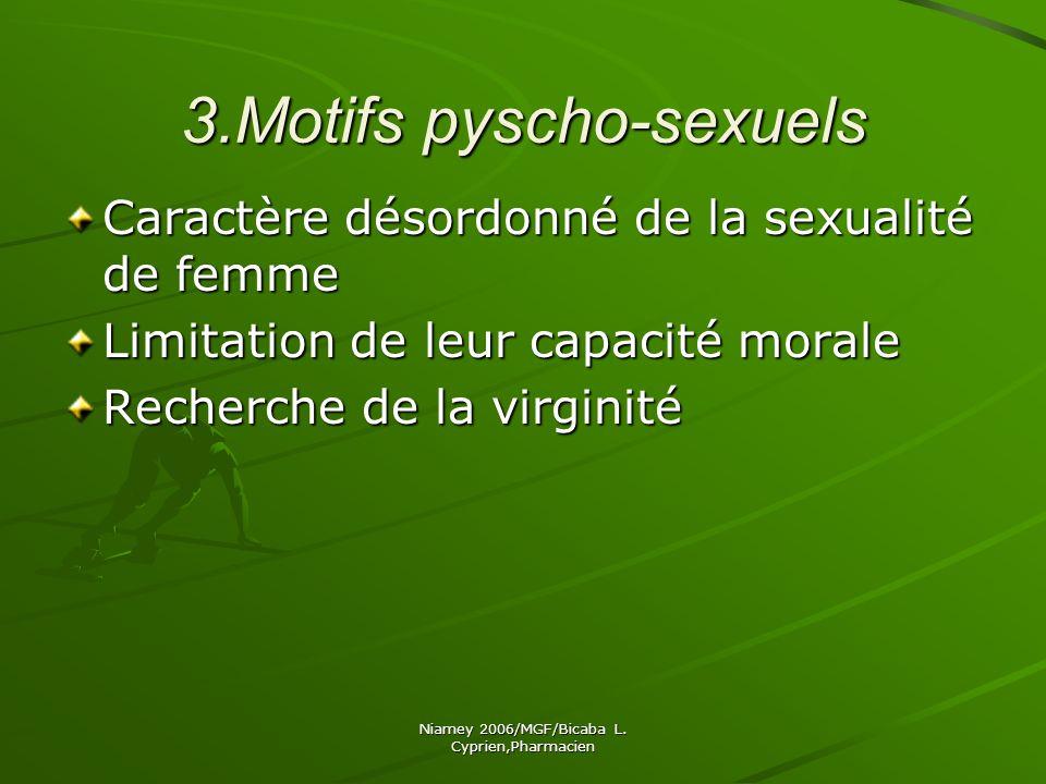 3.Motifs pyscho-sexuels