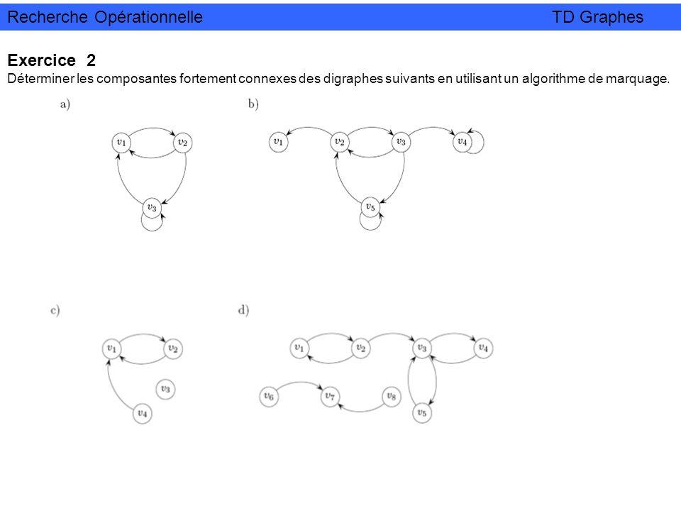 Recherche Opérationnelle TD Graphes