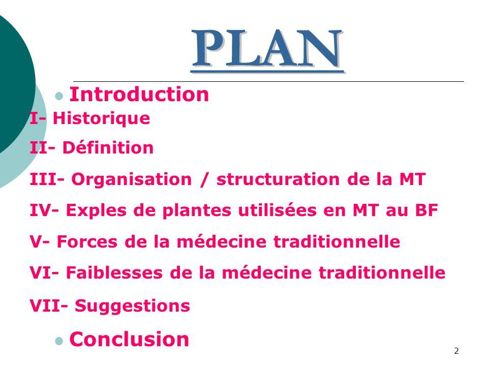 PLAN Introduction Conclusion I- Historique II- Définition