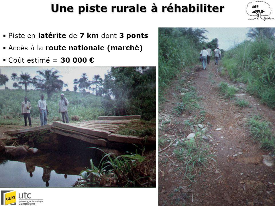 Une piste rurale à réhabiliter