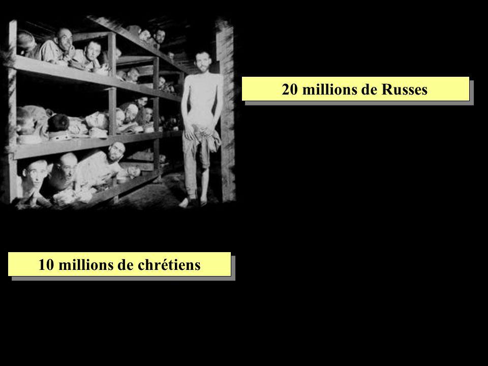20 millions de Russes 10 millions de chrétiens