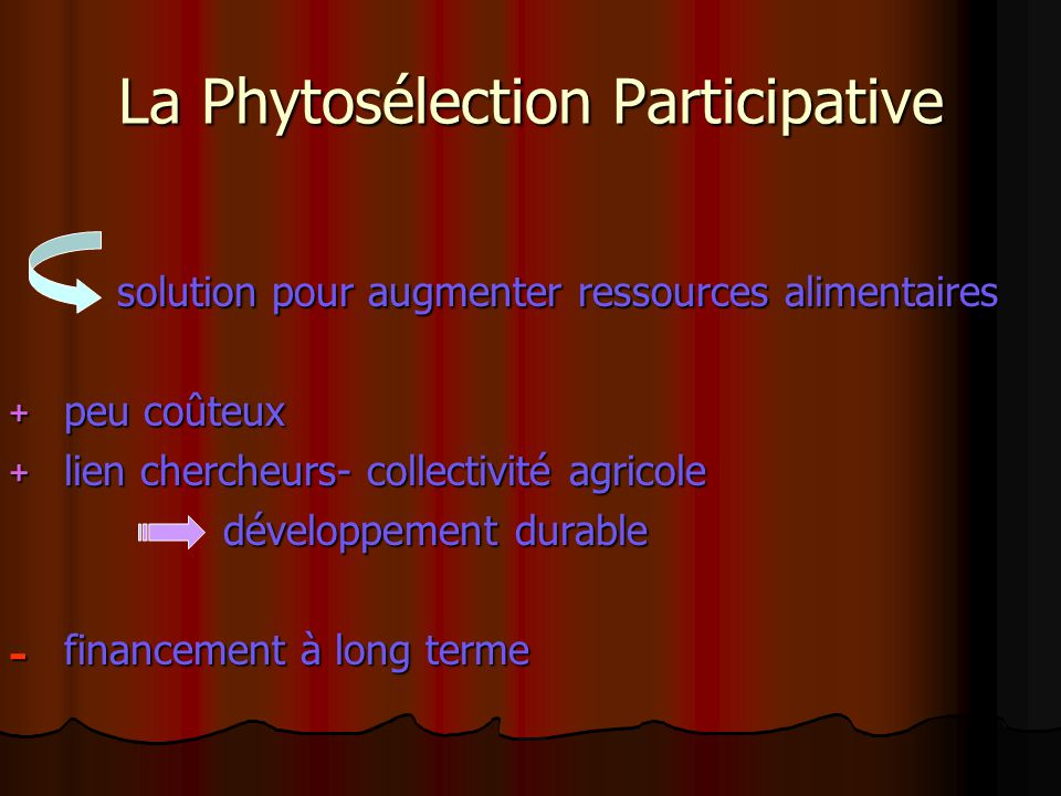La Phytosélection Participative