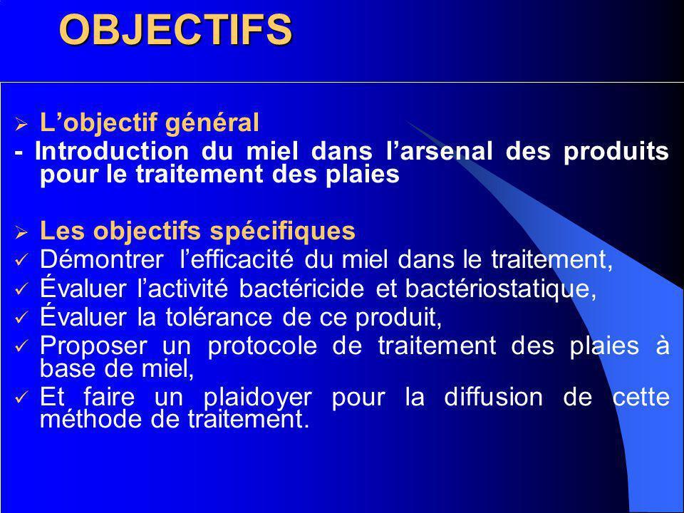 OBJECTIFS L'objectif général