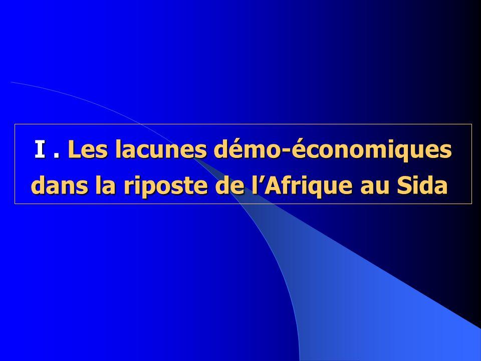 I . Les lacunes démo-économiques dans la riposte de l'Afrique au Sida