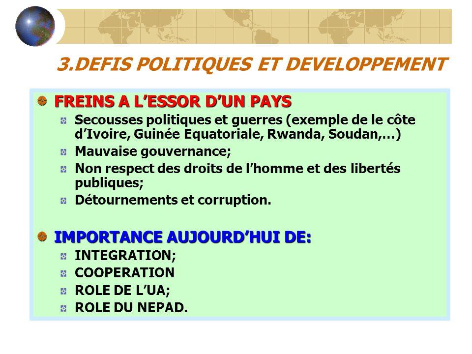 3.DEFIS POLITIQUES ET DEVELOPPEMENT
