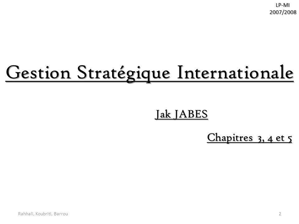 Gestion Stratégique Internationale