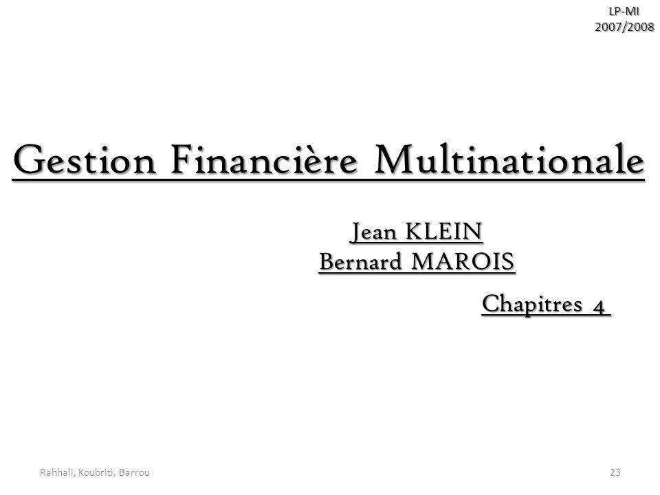 Gestion Financière Multinationale